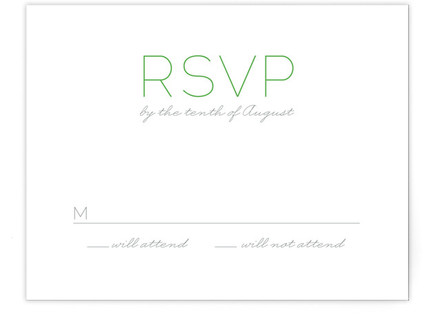 Simply Couture Print-It-Yourself Wedding RSVP Cards