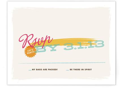 Tropisueno Print-It-Yourself Wedding RSVP Cards