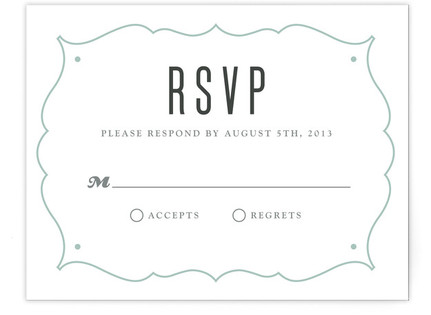 Modern Label Print-It-Yourself Wedding RSVP Cards