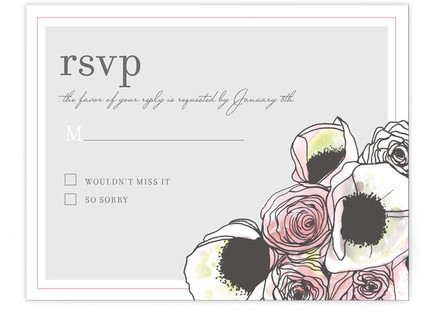 Belles Fleurs Print-It-Yourself Wedding RSVP Cards