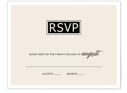 Simple Affair Print-It-Yourself Wedding RSVP Cards