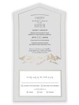 Mountain Vista All-in-One Foil-Pressed Wedding Invitations