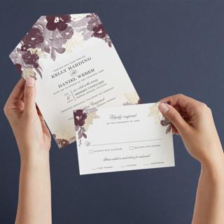 Ambrosia All-in-One Foil-Pressed Wedding Invitations