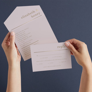 Textbook All-in-One Foil-Pressed Wedding Invitations