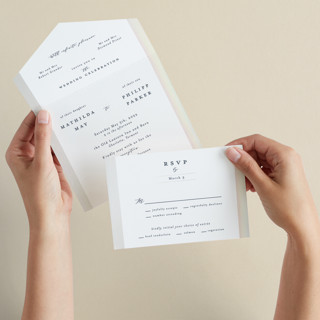 Dreaming of a white wedding All-in-One Gloss-Press Wedding Invitations