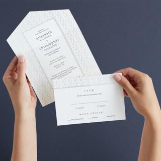Geometric Pattern All-in-One Gloss-Press Wedding Invitations