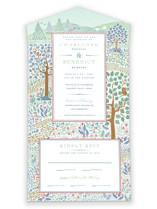 Woodland Garden All-in-One Wedding Invitations