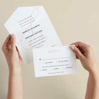AND All-in-One Wedding Invitations