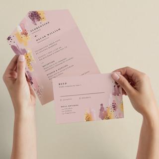 Mod Brush All-in-One Wedding Invitations
