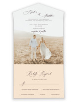 un mariage photographique All-in-One Wedding Invitations
