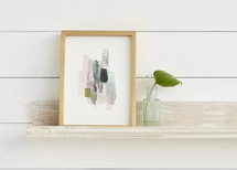 The Artful Shelf™ - Whitewashed French Farmhouse Art Shelves