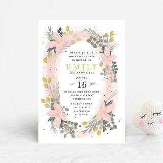Floral Oval Baby Shower Postcards