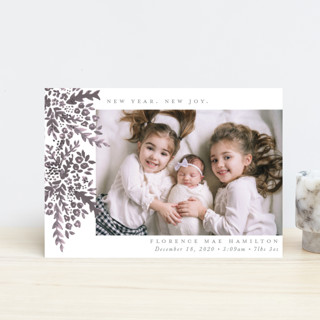 New Year. New Joy Holiday Birth Announcement Postcards