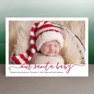 Our Santa Baby Holiday Birth Announcements