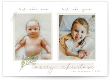 We Grew Holiday Birth Announcements