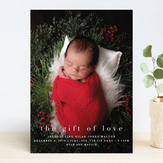 the gift of love Holiday Birth Announcements