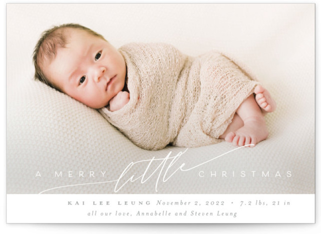Littlest Christmas Gift Holiday Birth Announcements