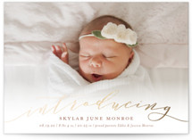 Treasured Foil-Pressed Birth Announcement Petite Cards