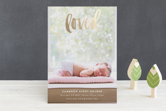 Very Loved Foil-Pressed Birth Announcements by rox