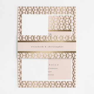 Geometric Pattern Foil-Pressed Belly Bands