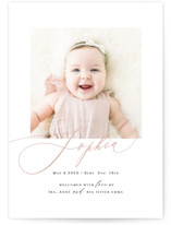 Happy Baby Birth Announcement Petite Cards