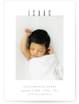 Noble Birth Announcement Petite Cards
