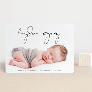 Modish Birth Announcement Petite Cards