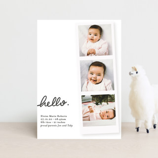 First Snapshots Birth Announcement Petite Cards