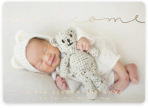 Delicate Welcome Foil-Pressed Birth Announcement Magnets