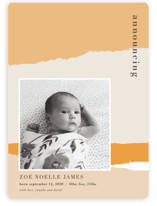 torn paper Birth Announcement Magnets