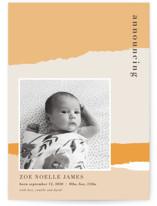 torn paper Birth Announcement Postcards