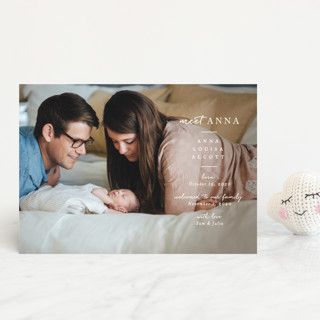 Meeting Birth Announcement Postcards