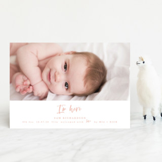 I'm Here Birth Announcement Postcards