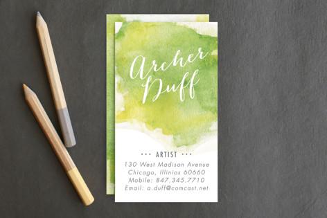 Watercolor Splash Business Cards