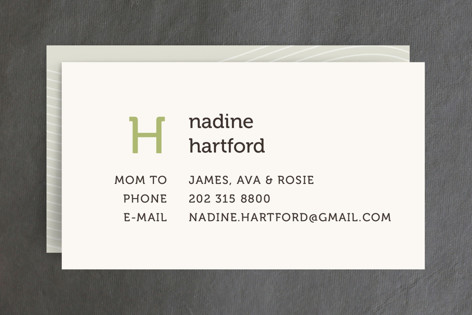 Initial Business Cards