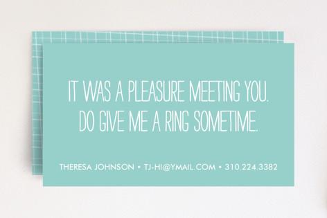 A Pleasure Business Cards