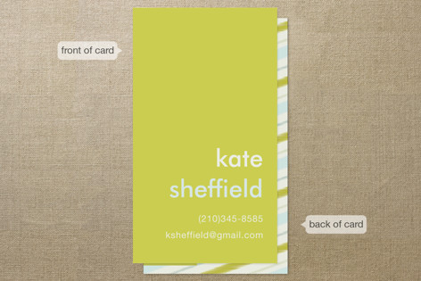 Mustard Stripe Business Cards