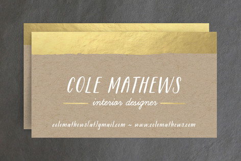 Gold Dip Business Cards