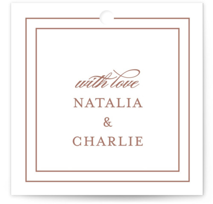 Eloquence Bridal Shower Favor Tags