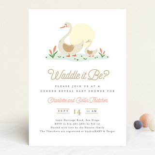 Waddle it Be? Baby Shower Invitations