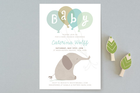 color me grey Baby Shower Invitations