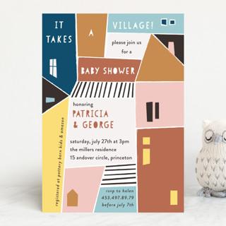 Papercut Village Baby Shower Invitations
