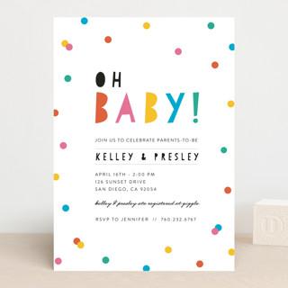 Bright Confetti Pop Baby Shower Invitations