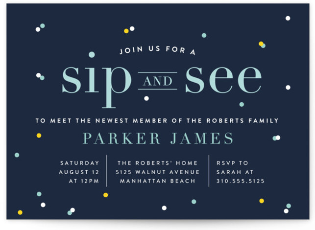 Baby Shower Invitation Wording Etiquette Minted