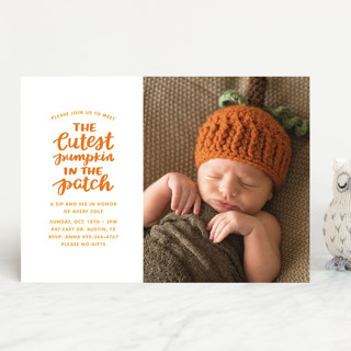 Cutest Pumpkin Baby Shower Invitations