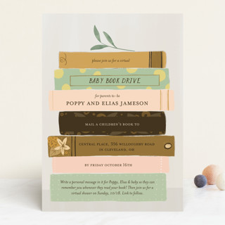 Book Lovers Baby Shower Invitations