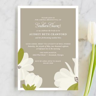 Southern Magnolia Bridal Shower Invitations