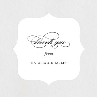 Eloquence Bridal Shower Stickers