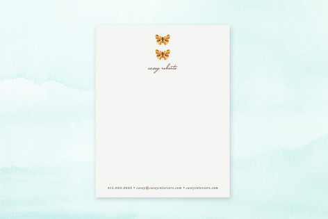 Botanical Butterfly Business Stationery