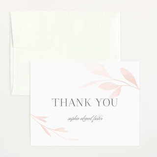 Darling Branches Flat Birth Announcements Thank You Cards